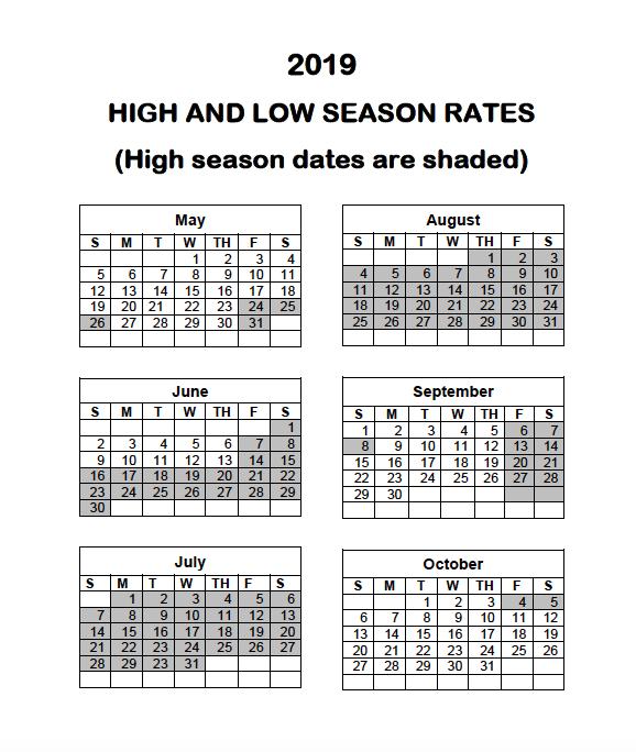 2019-high-low-calendar